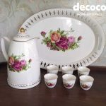 CAPODIMONTE Tea Set 9pc + Tray : VA Series