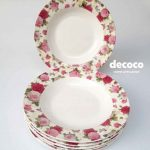 Capodimonte Plate Set Butterfly Rose 9 inch