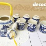 CAPODIMONTE Japanese Tea Set AB02