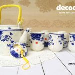 CAPODIMONTE Japanese Tea Set AB03