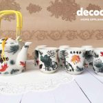CAPODIMONTE Japanese Tea Set AB05 Fish