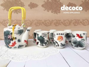 CAPODIMONTE-TEA-SET-JEPANG-AB05-FISH