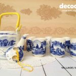 CAPODIMONTE Japanese Tea Set AB04 Village