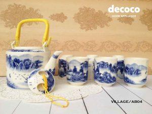 CAPODIMONTE-TEA-SET-JEPANG-VILLAGE-AB04