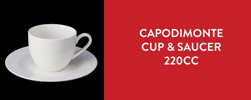 CAPODIMONTE CUP SAUCER 220CC