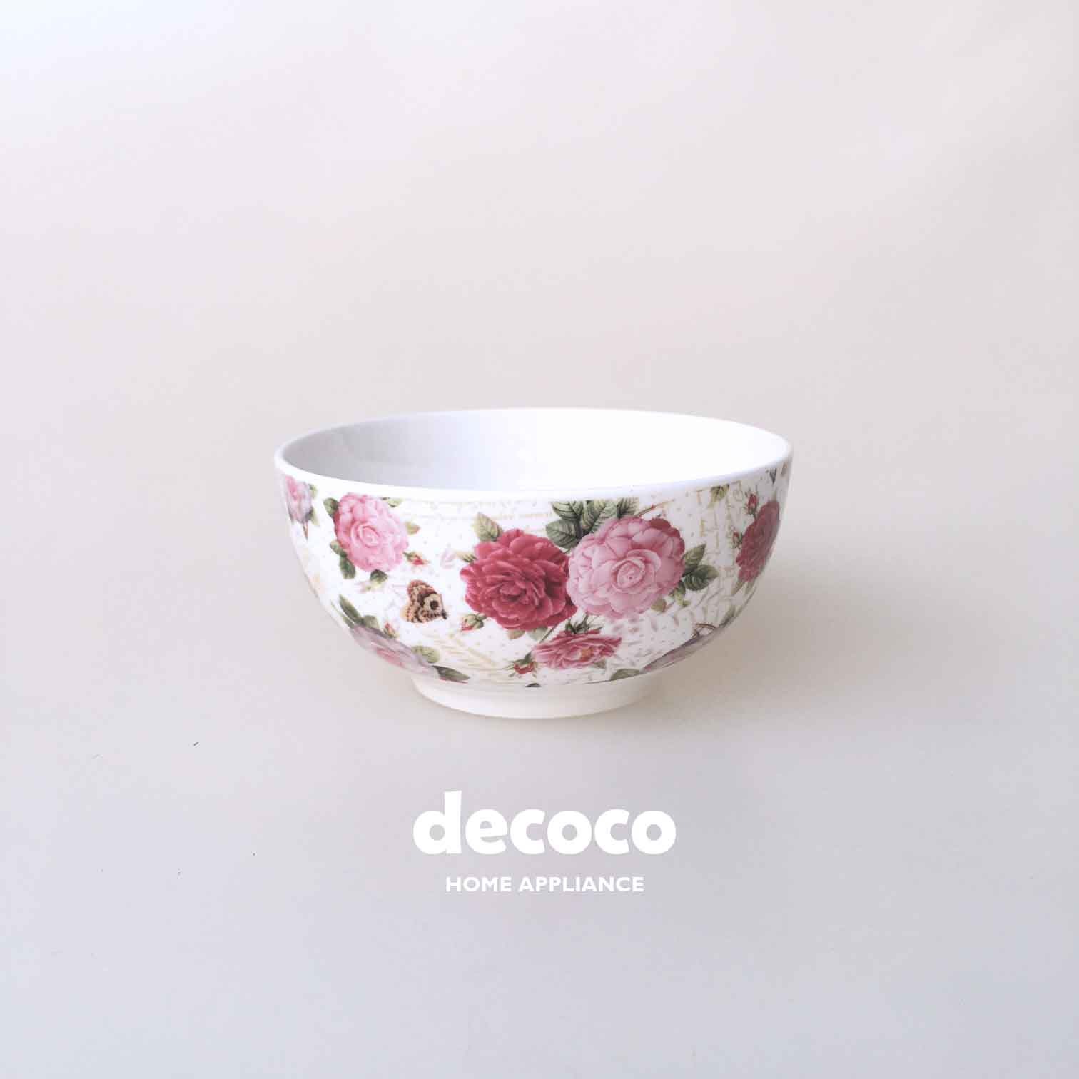 CAPODIMONTE-BOWL-SET-BUTTERFLY-ROSE