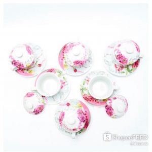 CAPODIMONTE CUP SAUCER 18PC SL2071