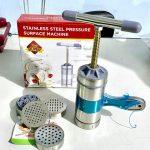 Alat Cetak Mie Gilingan Mie Stainless Cetakan Noodle Pressure Maker MACHINE Pencetak Pemutar