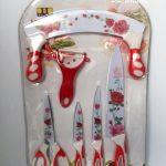 Nakami Pisau Set Keramik S/6 Ceramic Knife Bunga Kembang Warna KS2695 MINCER