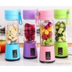 Q2 6888 Blender Juicer Portable USB Mini Pink Jus Serbaguna Otomatis Auto  Machine Fruit Milkshake