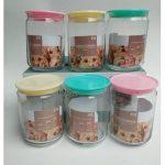 Toples Kyoto A DLX Glass Canister Set Candy Pot Canary Box Jar Kaca Beling Surabaya Shabby