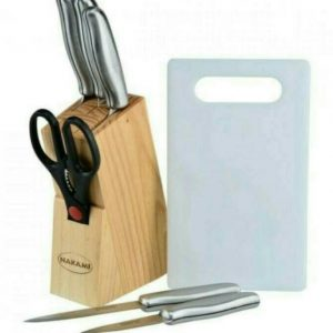 NAKAMI PISAU SET STAINLESS BLOK KAYU 8PC KS668